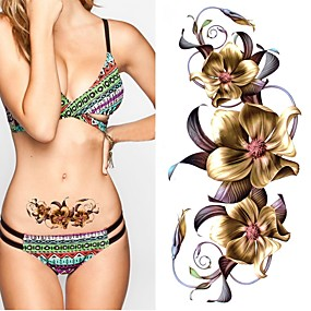 cheap Temporary Tattoos-2 pcs Temporary Tattoos Eco-friendly / New Design Body / brachium / Chest Water-Transfer Sticker Tattoo Stickers / Decal-style temporary tattoos
