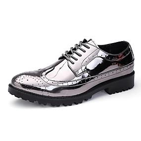 baratos Oxfords Masculinos-Homens Sapatos formais Couro Ecológico Outono Oxfords Dourado / Prata / Festas & Noite / Festas & Noite / EU40