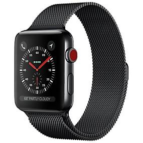 povoljno Pametni satovi-Nehrđajući čelik Pogledajte Band Remen za Apple Watch Series 4/3/2/1 Crna / Plava / Srebro 23 cm / 9 inča 2.1cm / 0.83 Palac
