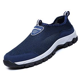 hesapli Erkek Atletik Ayakkabıları-Erkek Ayakkabı Örümcek Ağı / PU Sonbahar Günlük Atletik Ayakkabılar Yürüyüş Dış mekan için Siyah / Gri / Mavi