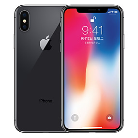 رخيصةأون تجديد فون-Apple iPhone X A1865 5.8 بوصة 256GB 4G هاتف ذكي - تم تجديده(رمادي) / 12
