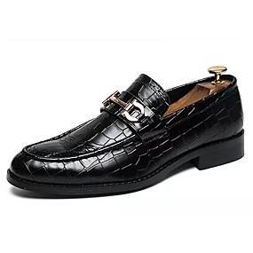 7ecde1e4631 Men s Comfort Shoes PU(Polyurethane) Fall Casual Loafers   Slip-Ons Non-slipping  Black   Brown