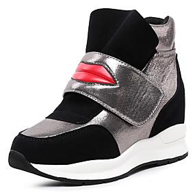 Χαμηλού Κόστους Γυναικεία Αθλητικά-Γυναικεία Παπούτσια άνεσης Συνθετικά Άνοιξη & Χειμώνας Αθλητικό / Καθημερινό Αθλητικά Παπούτσια Τακούνι Σφήνα Λευκό / Μαύρο