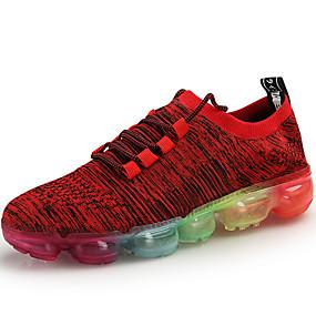 baratos Tênis Masculino-Homens Sapatos Confortáveis Tricô Primavera Verão / Outono & inverno Tênis Respirável Preto / Cinzento / Vermelho