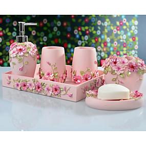 رخيصةأون منتجات الحمام-ترتيب الحمام تصميم جديد / كوول معاصر ABS + PC 6PCS تثبيت على الأرض