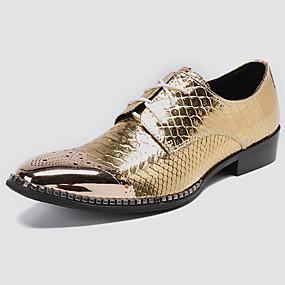 halpa Miesten Oxford-kengät-miesten muodolliset kengät nappa nahka kevät rento / brittiläinen oxfords ei liukuva kulta / puolue& ilta