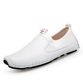 Ανδρικά Δερμάτινα παπούτσια Δέρμα Ανοιξη καλοκαίρι Καθημερινό Μοκασίνια    Ευκολόφορετα Αναπνέει Λευκό   Μαύρο   Μπλε 993917f7083