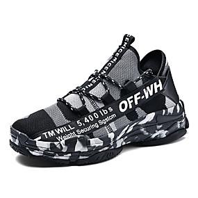 baratos Tênis Masculino-Homens Sapatos Confortáveis Com Transparência / Sintéticos Primavera Verão Casual Tênis Respirável Preto / Verde / Branco