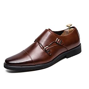 baratos Oxfords Masculinos-Homens Sapatos formais Couro Outono / Outono & inverno Negócio Oxfords Caminhada Não escorregar Preto / Castanho Claro / Festas & Noite