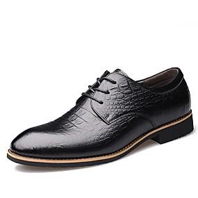 baratos Oxfords Masculinos-Homens Sapatos formais Pele Primavera / Outono Clássico / Casual Oxfords Não escorregar Preto / Marron / Festas & Noite / Festas & Noite / Sapatos de vestir
