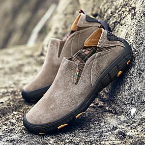 baratos Sapatos Esportivos Masculinos-Homens Sapatos Confortáveis Couro de Porco / Couro Ecológico Inverno Esportivo Tênis Aventura Não escorregar Cinzento / Café / Khaki / Atlético
