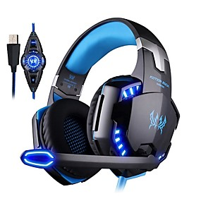 cheap Gaming-KOTION EACH G2200 Headband Wired Headphones Earphone / Headphone PP+ABS Gaming Earphone with Microphone / with Volume Control Headset