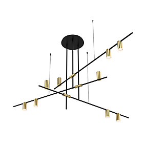 cheap Chandeliers-ZHISHU 9-Light Geometric Chandelier Ambient Light Electroplated Painted Finishes Metal New Design 110-120V / 220-240V Warm White / White Bulb Included / E26 / E27