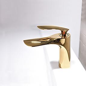 billige Ugentlige tilbud-Baderom Sink Tappekran - Nytt Design Malte Finishes Vannrett Montering Enkelt Håndtak Et HullBath Taps