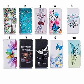 ราคาถูก โทรศัพท์ & อุปกรณ์เสริม-Case สำหรับ Samsung Galaxy J6 / J4 Wallet / Card Holder / with Stand ตัวกระเป๋าเต็ม Butterfly / ต้นไม้ Hard หนัง PU สำหรับ J7 (2017) / J7 (2016) / J5 Prime