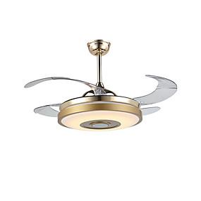 ef7c775ef QINGMING® مروحة سقف ضوء محيط مطلي معدن LED, تحكم بلوتوث 110-120V / 220-240V  متعدد الألوان