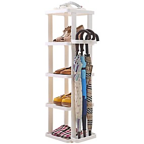 baratos Sapateiras & Cabides de Sapato-Sapateiras & Cabides Plástico 5 níveis Unisexo Branco