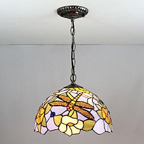 abordables Lampe Tiffany-Spoutnik Lampe suspendue Lumière d'ambiance Finitions Peintes Verre Verre Multi-teintes, Créatif 110-120V / 220-240V