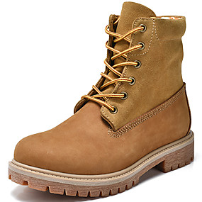619d92c3c2c Pánské Obuv military styl Nappa Leather Podzim zima Vintage   Na běžné  nošení Boty Zahřívací Do půli lýtek Hnědá
