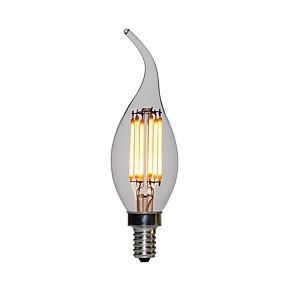 billige Stearinlyslamper med LED-10pcs 2 W 120 lm E12 / E14 LED-lysestakepærer C35L 2 LED perler Høyeffekts-LED Varm hvit 110-130 V / 200-240 V / RoHs / FCC / VDE
