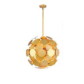 abordables Plafonniers-QIHengZhaoMing 8 lumières Lampe suspendue Lumière d'ambiance Plaqué Métal 110-120V / 220-240V Blanc Crème