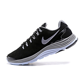 cheap Men's Athletic Shoes-Men's Light Soles Leather / Suede Spring &  Fall / Spring / Summer Sporty / Casual Athletic Shoes Running Shoes / Hiking Shoes / Fitness & Cross Training Shoes Shock Absorbing Black / Walking Shoes NI