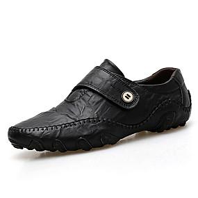 baratos Sapatilhas e Mocassins Masculinos-Homens Sapatos de Condução Crocodilo Verão Negócio / Casual Mocassins e Slip-Ons Caminhada Respirável Preto / Castanho Claro