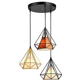 billige Hengelamper-3-Light Cone / Industriell Anheng Lys Omgivelseslys Malte Finishes Metall Reb, Kreativ 110-120V / 220-240V
