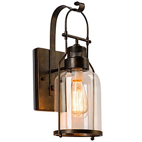 cheap Outdoor Wall Lights-Cool Modern Contemporary Wall Lamps & Sconces Shops / Cafes Metal Wall Light 220-240V 40 W