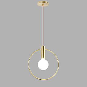 abordables Plafonniers-Circulaire Lampe suspendue Lumière d'ambiance Plaqué Finitions Peintes Métal Design nouveau 110-120V / 220-240V