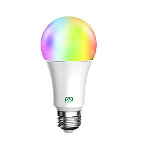 billige Globepærer med LED-ywxlight®1pc 10w rgbw hjem belysning trådløs wifi smart app fjernkontroll støtte alexa google hjem smart lyspære