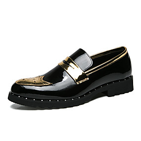 cheap Men's Slip-ons & Loafers-Men's Formal Shoes PU Spring & Summer / Fall & Winter Casual / British Loafers & Slip-Ons Walking Shoes Non-slipping Gold / Silver / Party & Evening / Party & Evening / Office & Career / Dress Shoes