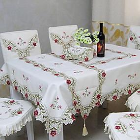 billige Bordduker-Moderne 100g / m2 Polyester Strik Stretch Kvadrat Duge Geometrisk Borddekorasjoner 1 pcs