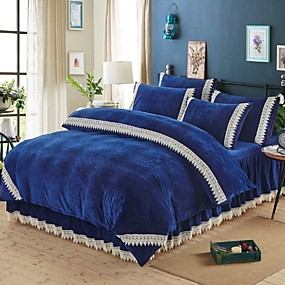 cheap High Quality Duvet Covers-Duvet Cover Sets Contemporary Polyster Reactive Print 4 PieceBedding Sets