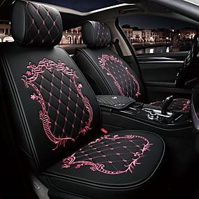 ราคาถูก Frankfurt International Auto Accessories Show-ODEER Car Seat Cushions หมอนอิงที่นั่ง สีดำ / สีชมพู / สีดำทอง / ดำ / ขาว หนัง PU ธรรมดา สำหรับ Universal ทุกปี ทุกรูปแบบ