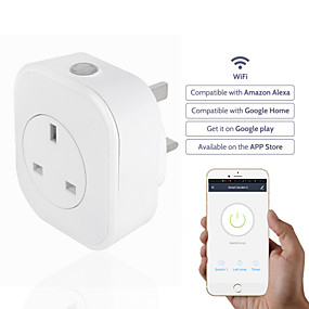 povoljno Utičnice-Utičnica / Smart Plug Vremenska funkcija / s USB priključnicama / Planirano vrijeme 1pc ABS + PC / 750 ° C / anti-plamen retardant APP / Andriod 4,2 gore / IOS8.0 iznad Amazon Alexa Echo / Google