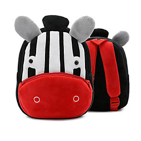 cheap Preschool Backpacks-Boys' / Girls' Bags Synthetic School Bag Zipper Animal Yellow / Almond / Red
