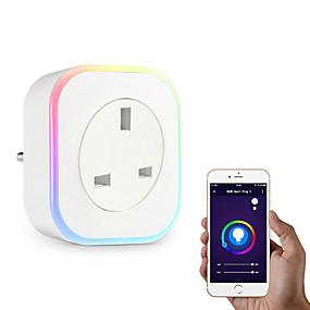 ieftine Smart Home-Priză / Smart Plug Funcția de temporizare / Intensitate Luminoasă Reglabilă / cu LED-uri 1 buc ABS + PC / 750 ° C / anti-flacără retardant Andriod 4.2 de mai sus / IOS8.0 de mai sus Amazon Alexa Echo