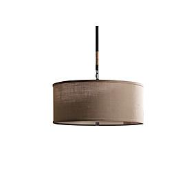 billige Hengelamper-3-Light Sirkelformet Anheng Lys Omgivelseslys galvanisert Metall Stof Stearinlys Stil 110-120V / 220-240V