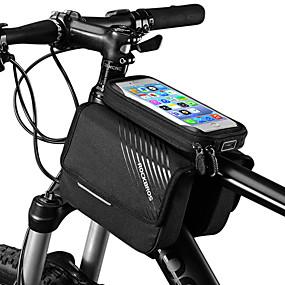 preiswerte Fahrradrahmentaschen-ROCKBROS Handy-Tasche Fahrradrahmentasche 6 Zoll Touchscreen Reflektierendes Logo Regenfest Radsport für iPhone X iPhone XR iPhone XS Schwarz Geländerad Fahhrad / iPhone XS Max