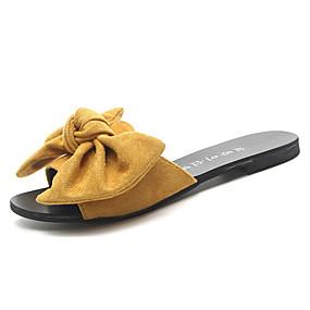 2513464c5ddc Women's PU(Polyurethane) Spring Casual Slippers & Flip-Flops Flat Heel  Bowknot Black / Beige / Yellow