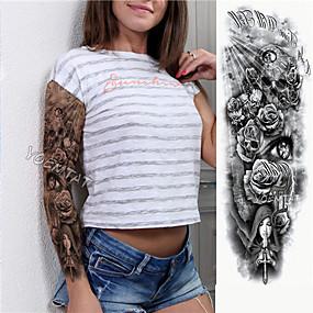voordelige tattoo stickers-1 pcs Tijdelijke tatoeages Milieuvriendelijk / Wegwerp Klankkast / brachium / Been Kaart Papier Tatoeagestickers