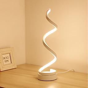 billige Bordlamper-spiralbuet led bordbordlampe moderne minimalistisk belysningsdesign akrylmateriale perfekt spiselig design for soverommet stue gullhvit