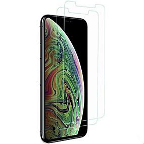 voordelige iPhone screenprotectors-Screenprotector voor Apple iPhone XS / iPhone XR / iPhone XS Max Gehard Glas 2 pcts Voorkant screenprotector High-Definition (HD) / 9H-hardheid / 2.5D gebogen rand