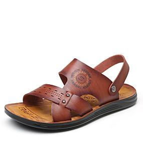 4a82b1d9c رجالي أحذية الراحة PU الصيف كاجوال صنادل المشي ارتداء إثبات أصفر / بني /  كاكي