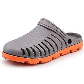 baratos Tamancos Masculinos-Homens Sapatos Confortáveis Borracha Primavera Verão Casual Tamancos e Mules Respirável Preto / Cinzento / Azul