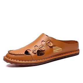 baratos Tamancos Masculinos-Homens Sapatos de Condução Microfibra Verão Casual / Formais Tamancos e Mules Respirável Preto / Branco / Azul