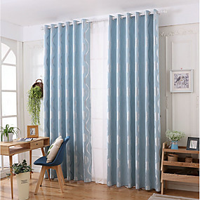 cheap Curtains & Drapes-Contemporary Privacy One Panel Curtain Living Room   Curtains / Jacquard
