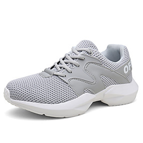 cheap Running Shoes-Men's Comfort Shoes Mesh Fall / Spring & Summer Sporty / Casual Athletic Shoes Running Shoes Breathable Gray / Khaki