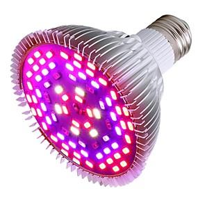 abordables Lampe de croissance LED-1pc 50 W Ampoule en croissance 1200 lm E26 / E27 78 Perles LED SMD 5730 Décorative Multicolores 85-265 V